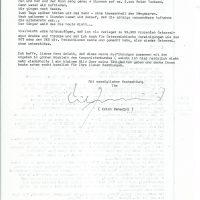 1981 Erich Benedini an Arleth – 2