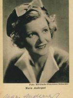 Autogrammkarte Maria Andergast 15