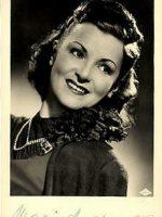 Autogrammkarte Maria Andergast 17