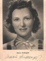 Autogrammkarte Maria Andergast 18
