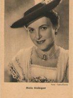 Autogrammkarte Maria Andergast 7