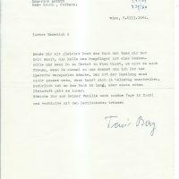 Brief Berg an Arleth vom 06.08.1964