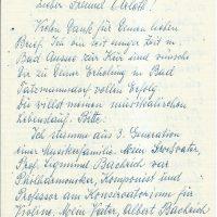 Brief an Arleth 1 – 1