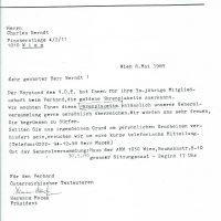 Brief vom Verband Österreichischer Textautoren