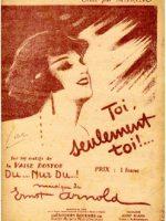 Toi, seulement toi! (1929)