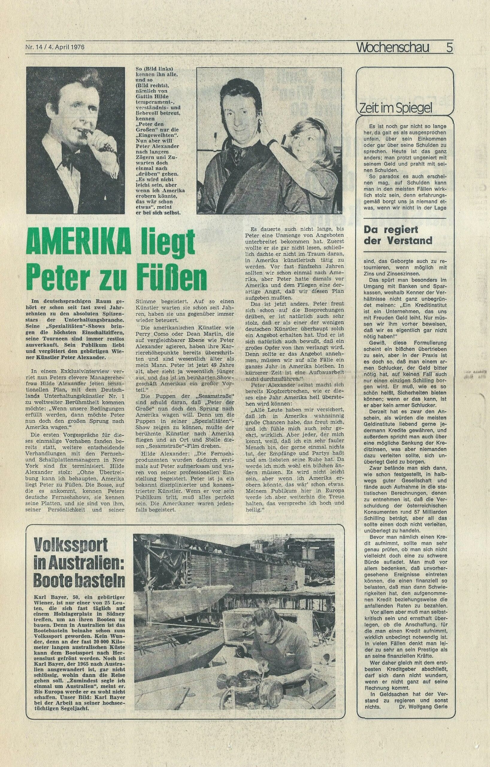 Wochenschau 04.04.1976