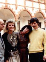 1987 mit Aniko Benkö im Turnier auf der Schallaburg, Norbert Pawlitzky, AB, Evamaria Kaiser, PM, Willy Kralik