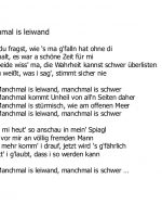 7-Manchmal is leiwand
