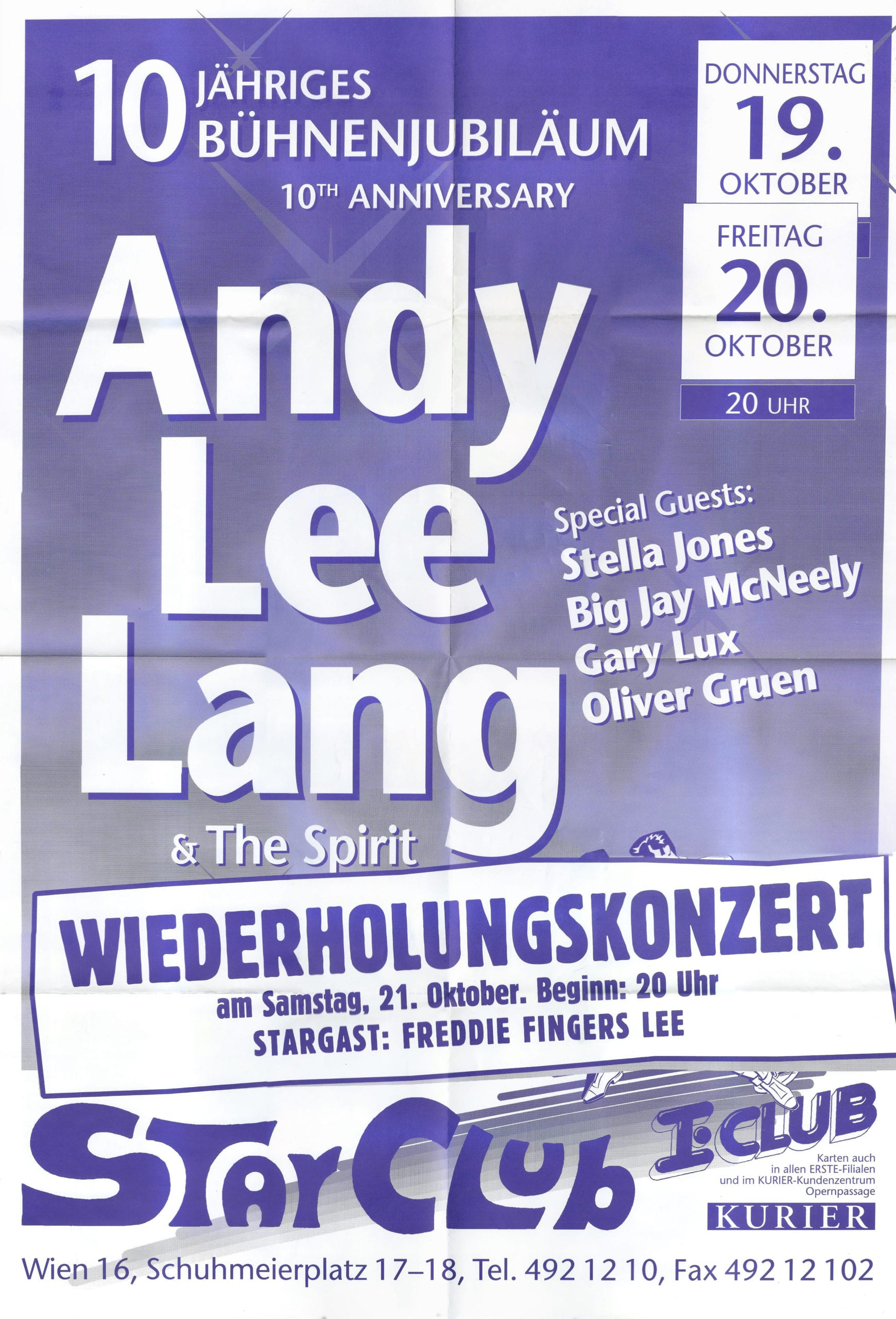Andy Lee Lang – 10 Jahre Bühne