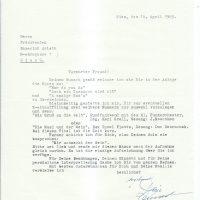Brief Adler sen an Arleth 14.04.1965