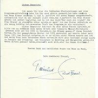 Brief Brettner an Arleth 12.01.1961