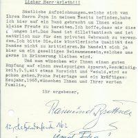 Brief Brettner an Arleth 18.12.1967