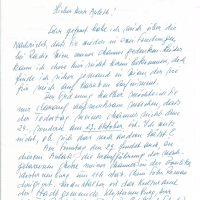 Brief Claus-Dostal an Arleth15.09.1991 – 1