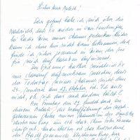 Brief Claus-Dostal an Arleth15.09.1991 – 1