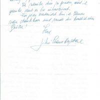Brief Claus-Dostal an Arleth15.09.1991 – 2