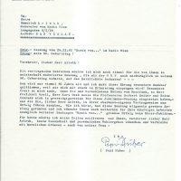 Brief Huber an Arleth 30.11.1982