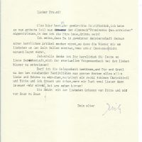Brief Jaksch an Arleth 20.12.1968