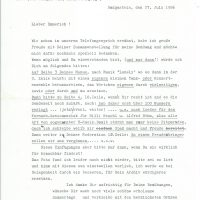 Brief Rudi Neroth an Arleth 27.07.1986