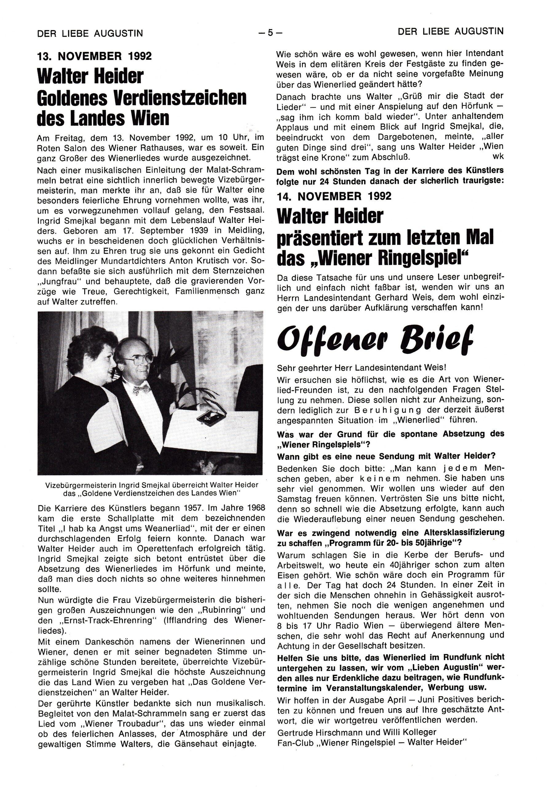 Der liebe Augustin – 1993, Heft Nr. 2-S.5