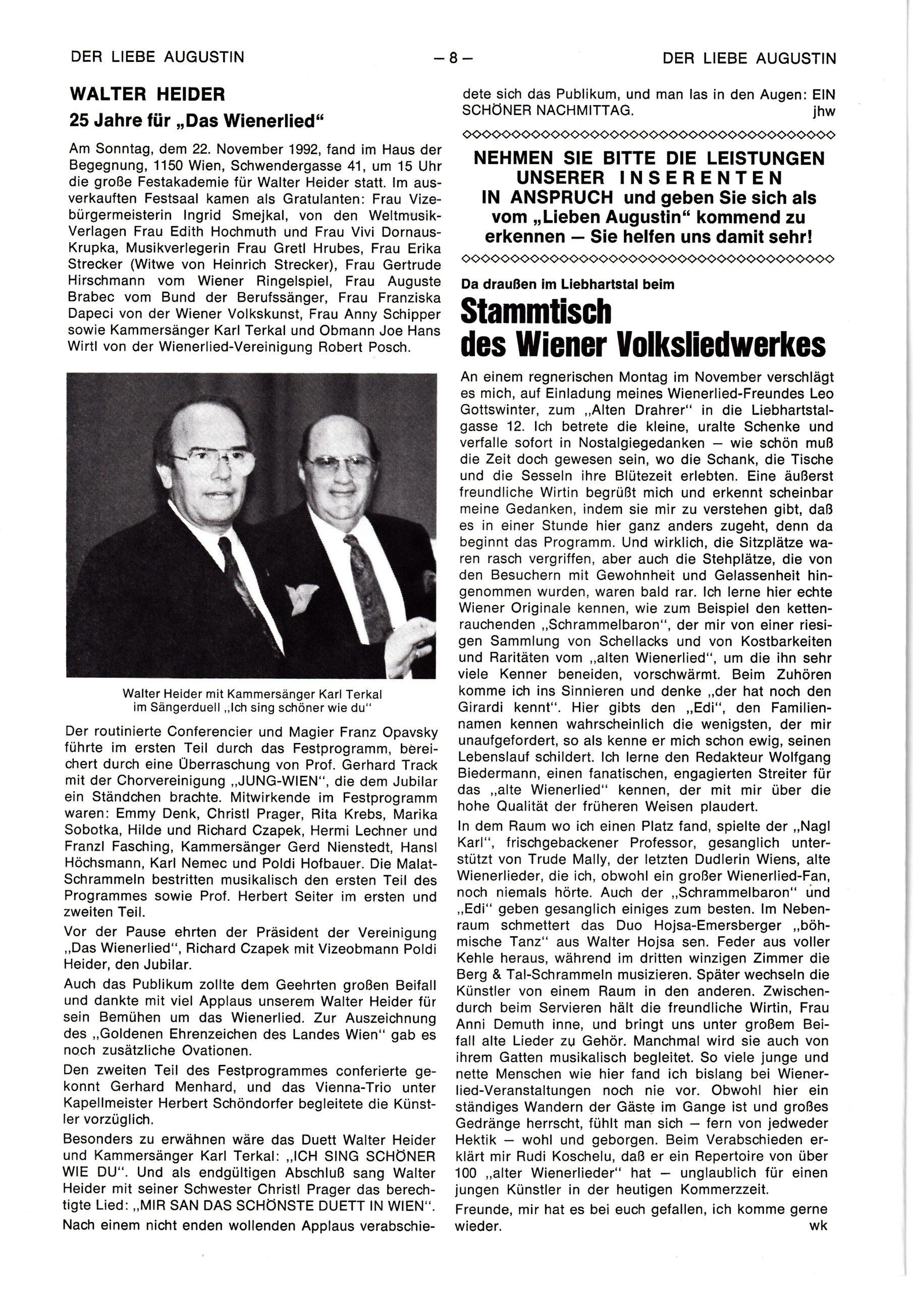 Der liebe Augustin – 1993, Heft Nr. 2-S.8