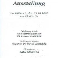 Einladung 15.10.2003 – 2
