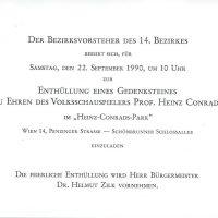 Einladung 22.09.1990