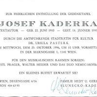 Einladung Enthüllung 23.10.1996 – 2