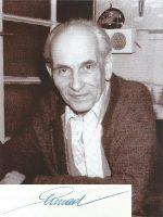 Ernest Ermad mit Unterschrift
