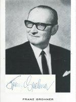 Franz Grohner mit Unterschrift