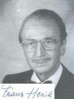 Franz Hesik mit Unterschrift