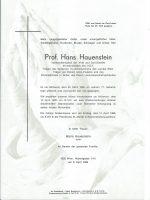 Hans Hauenstein – Parte