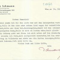 Ichmann an Arleth 14.02.1963