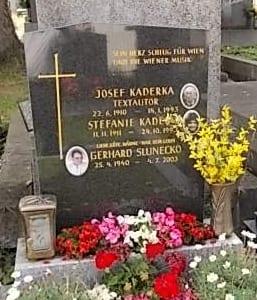 Josef Kaderka Grabstätte