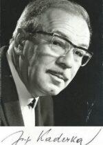Josef Kaderka mit Unterschrift