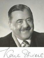 Karl Föderl mit Unterschrift