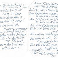 Karte Höchsmann an Arleth 06.11.1994 – II