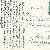 Karte Jäger an Filipek 17.04.1956 – 2