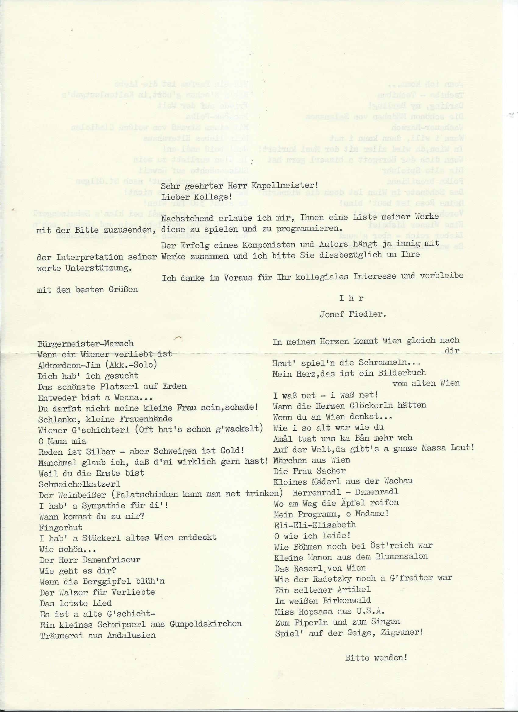 Liederliste – 1 – 1
