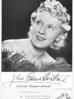 Lillie Claus-Dostal mit Unterschrift