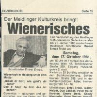 Meidlinger Bezirksbote Datum unbekannt