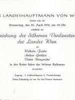 Silbernes Verdienstzeichen 23.04.1970 – 2