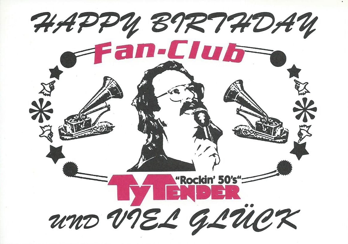 Ty Tender Fanclub Gratulation