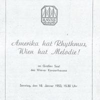 Wiener Konzerthaus 18.01.1953 – 1
