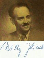 Willy Jelinek mit Unterschrift