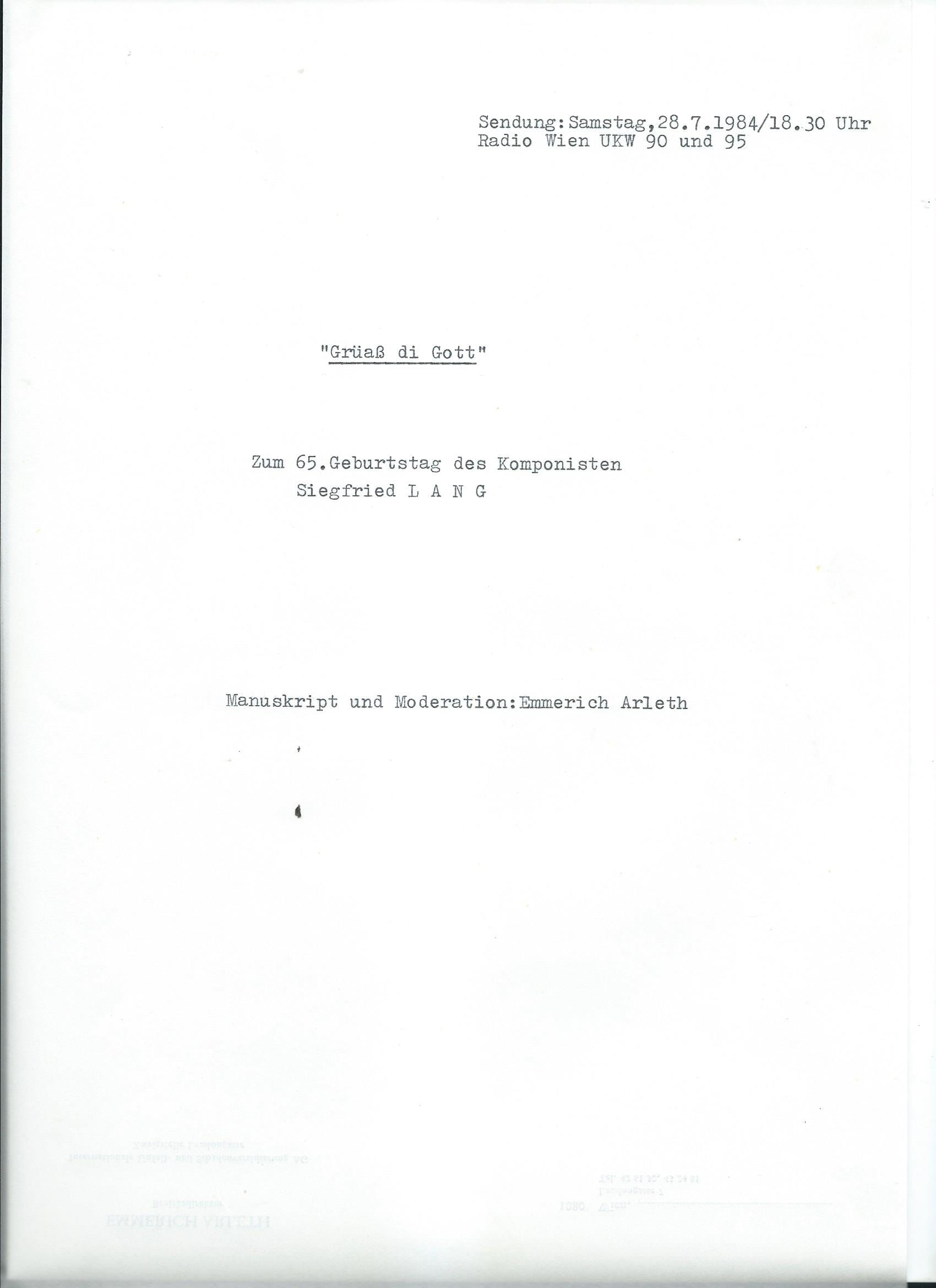 28.07.1984 – 1