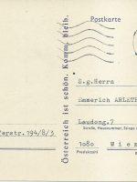 Karte Lang an Arleth 04.03.1980 – 1