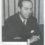 Siegfried Lang mit Unterschrift