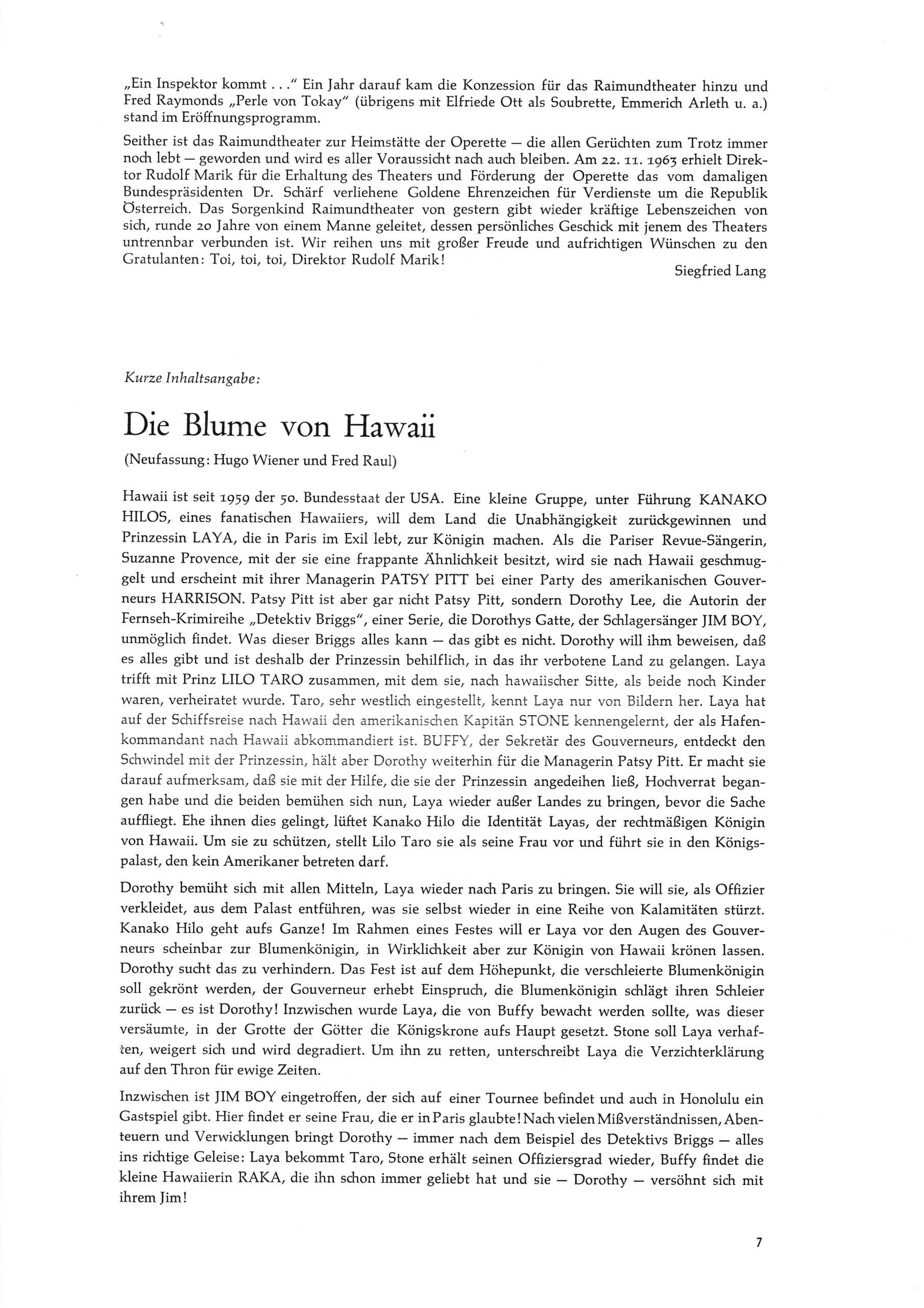 1967-68 – Die Blume von Hawaii – S.7