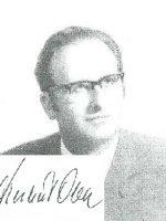 Herbert Ober mit Unterschrift