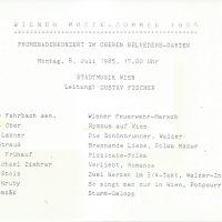 Wiener Musik-Sommer 08.07.1985